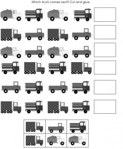 Printables Preschool Pattern Worksheets pattern worksheet for kids crafts and worksheets preschool truck patterns worksheet
