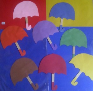 umbrella craft idea