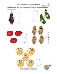 vegetable number trace