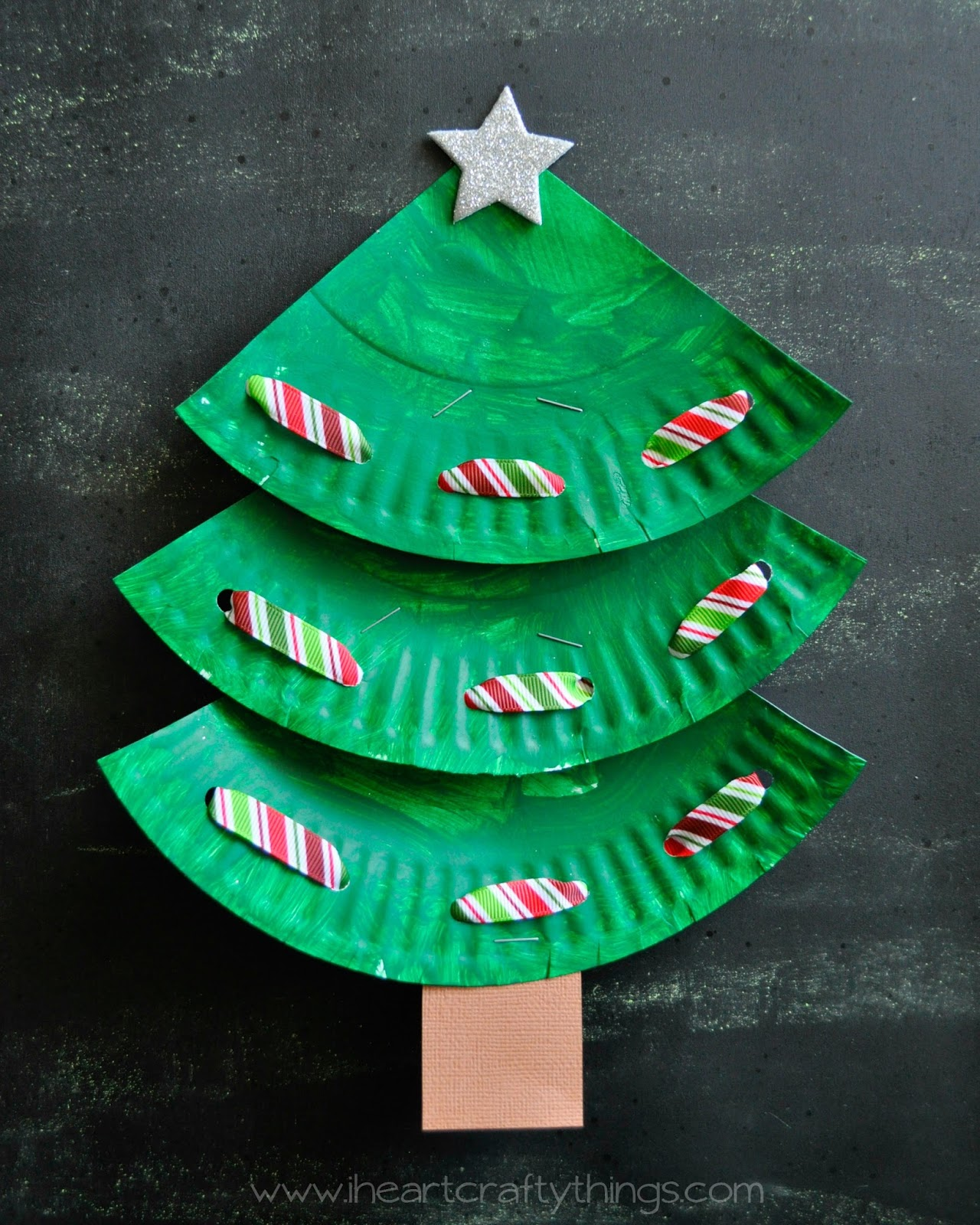 Paper Plate Christmas Tree 2