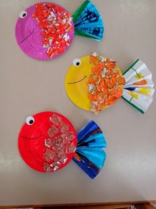 Paper Plate Tropical Fish