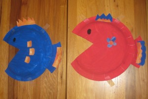 Paper plate fish crafts