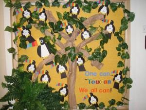 Tropical Toucan bulletin board