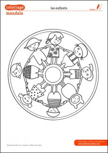 World Thinking Day mandala coloring page (1)