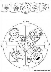 World Thinking Day mandala coloring page (12)