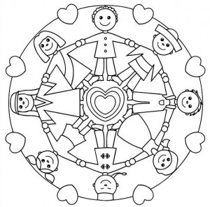 World Thinking Day mandala coloring page (2)