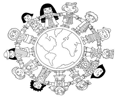 World Thinking Day mandala coloring page (6)