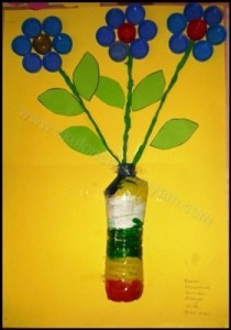 bottle cap flower