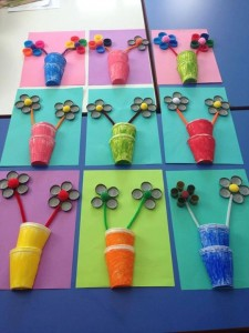 bottle cap flower craft