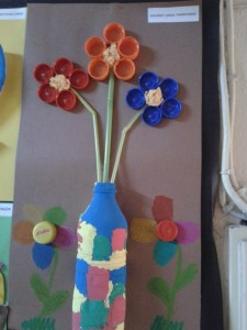 bottle cap flower craft idea