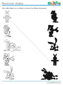 bunny shadow worksheet