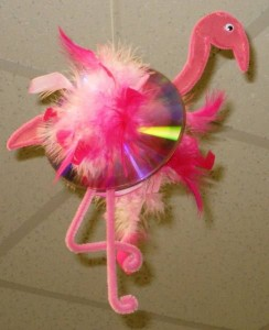 cd flamingo craft