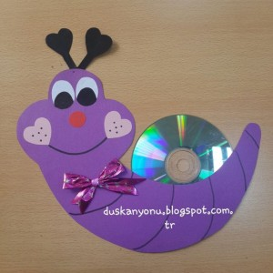 cd snail craft idea