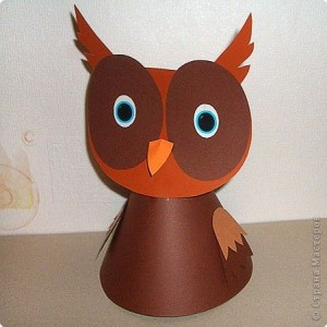 cone shaped owl craft