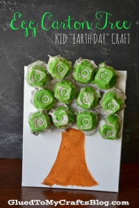 egg carton tree craft
