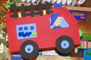 fire truck craft idea