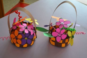 flower basket craft
