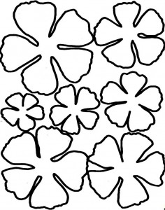 Flower template coloring page crafts and worksheets for flower template coloring 7 pronofoot35fo Image collections