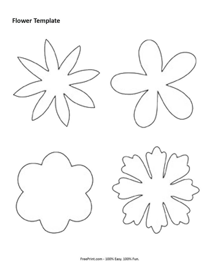 бумаги цветы схемы из вырезать