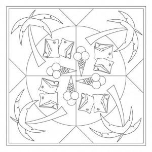 Free Printable Summer Mandala Coloring 4