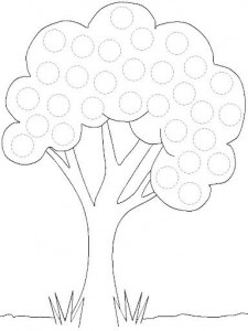 free printable tree trace worksheet (3)