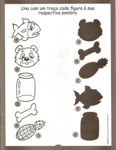 free shadow worksheet for kids