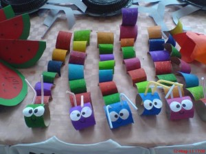 free toilet paper roll caterpillar craft