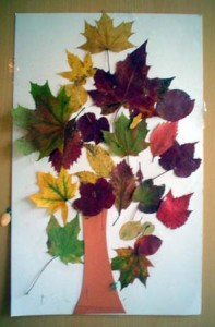 leaf tree craft
