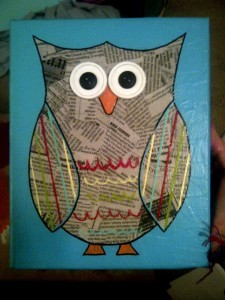 newspaper owl craft