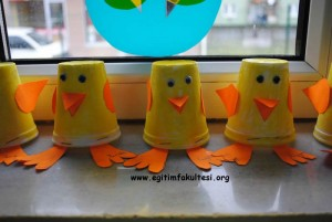 paper cup duck craft