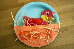 paper plate bird craft idea for kids (1)