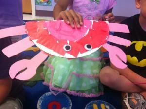 paper plate crab idea
