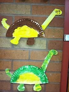 paper plate dinosaur craft idea (10)