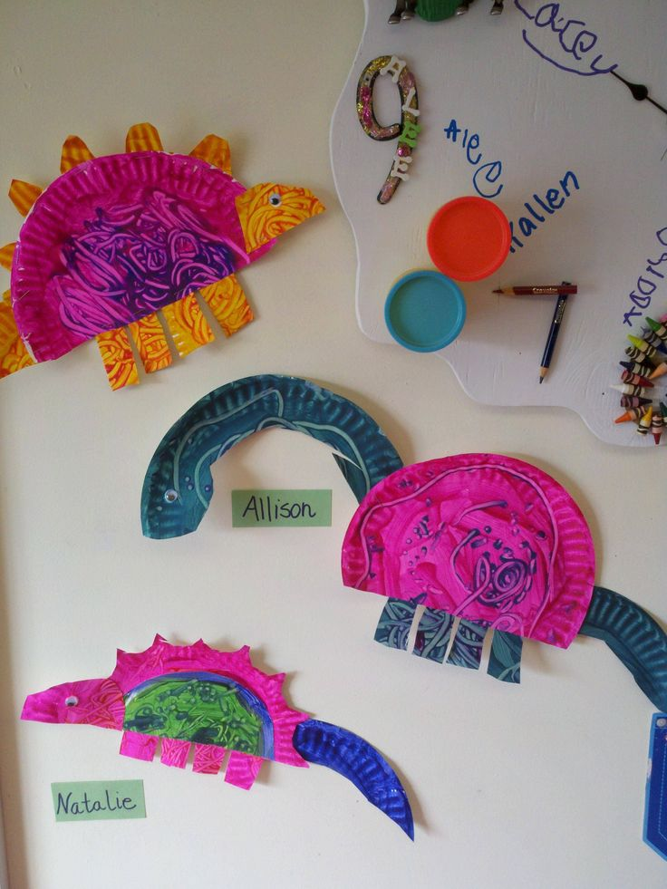 Paper Plate Dinosaur Craft Idea For Kids