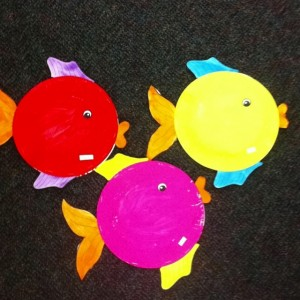 paper plate fish craft idea for kids