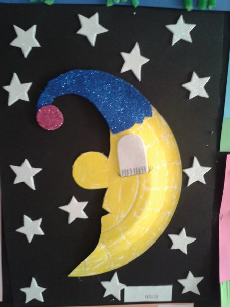 Paper Plate Moon Craft