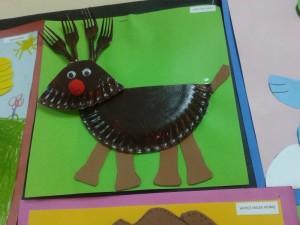 paper plate reindeer craft