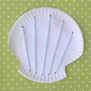 paper plate sea shell craft