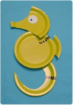 Paper plate sea animal crafts