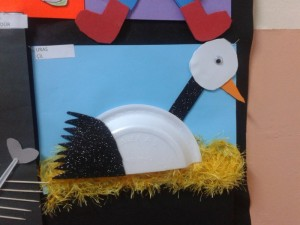 paper plate stork craft