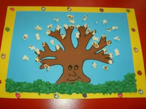 popcorn tree craft