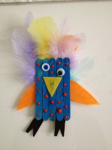 popsicle bird craft