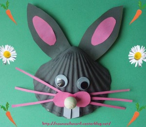 seashell bunny craft