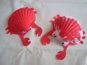 seashell crab craft idea for kids