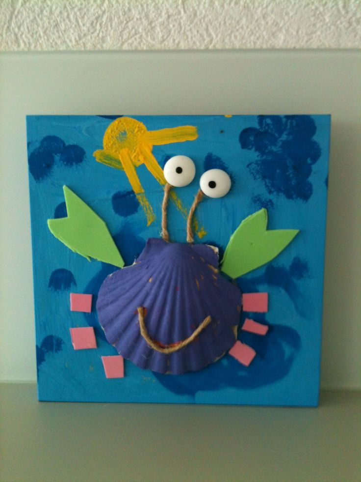 seashell crab craft