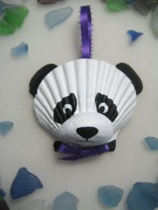 seashell panda craft