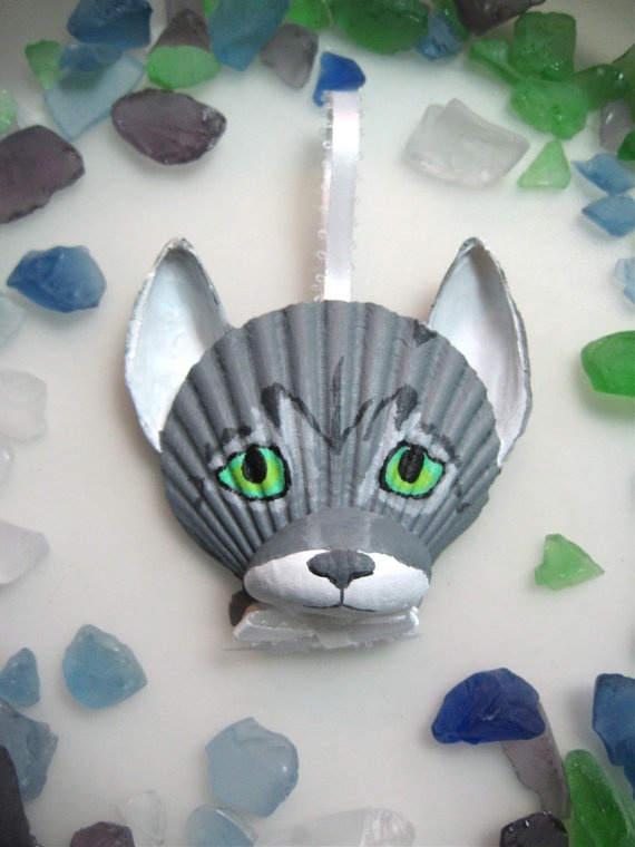 seashell wolf craft