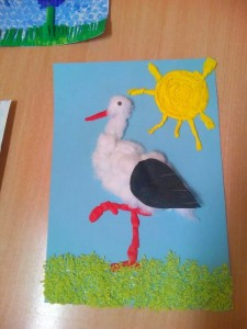 stork craft idea for kids