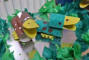 toilet paper roll duck craft