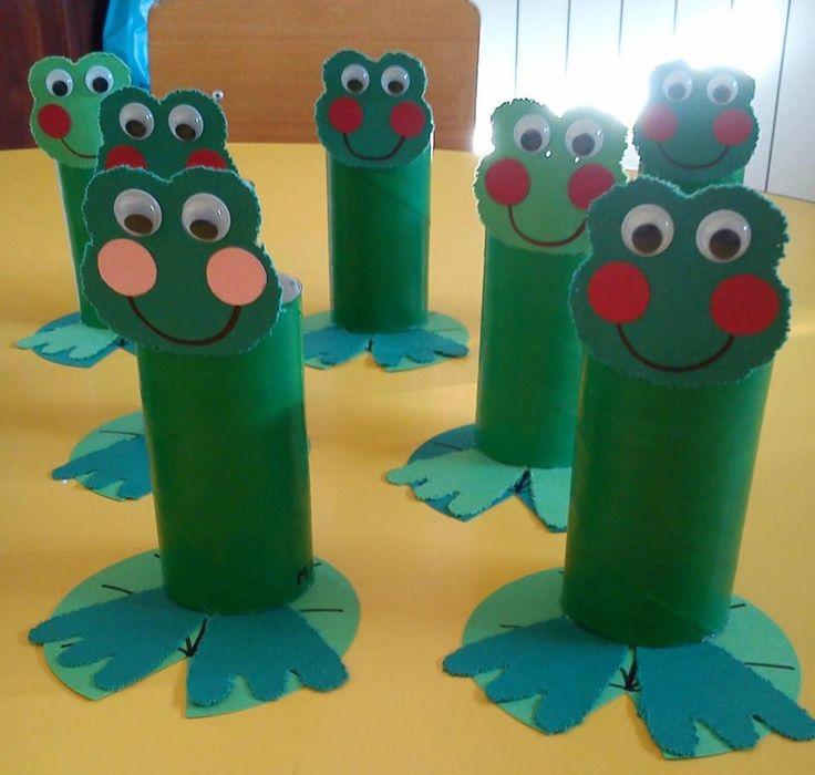 toilet paper roll frog craft idea